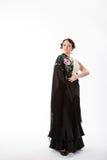 Kvinnlig spansk flamencodansare Arkivfoto