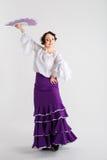 Kvinnlig spansk flamencodansare Fotografering för Bildbyråer