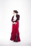 Kvinnlig spansk flamencodansare Arkivbild