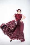 Kvinnlig spansk flamencodansare Royaltyfri Bild