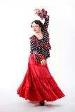 Kvinnlig spansk flamencodansare Royaltyfri Fotografi