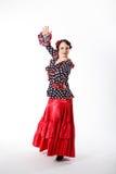 Kvinnlig spansk flamencodansare Arkivfoton