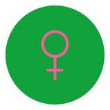 Kvinnlig symbolsymbol Arkivbild