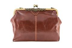 Kvinnlig tappninghandväska för utklipp Royaltyfria Foton