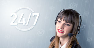 Kvinnlig telemarketer Royaltyfri Bild
