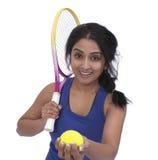 Kvinnlig tennisspelare Royaltyfri Fotografi