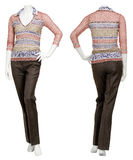 Kvinnlig tröja på skyltdocka royaltyfri foto