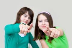 kvinnlig två barn Arkivbild