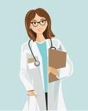 Kvinnlig vård- praktiker Arkivbilder