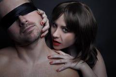 Kvinnlig vampyr Fotografering för Bildbyråer