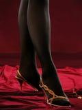 Kvinnliga ben i dagdrivare. Fotografering för Bildbyråer