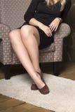 kvinnliga ben i olikt poserar Royaltyfri Foto