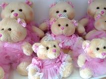 Kvinnliga björnar av plysch Royaltyfria Bilder