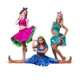 Kvinnliga diskodansare som visar någon förehavanden Royaltyfria Foton