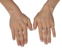 Kvinnliga händer Arkivfoto