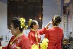 Kvinnliga katoliker som är klara att utföra Royaltyfria Foton