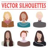 Kvinnliga konturer Vektor Illustrationer