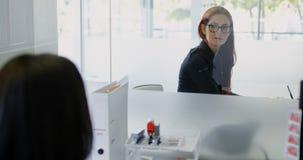 Kvinnliga ledare som påverkar varandra med de 4k arkivfilmer