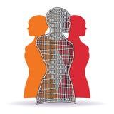 Kvinnliga modetorso Arkivbilder