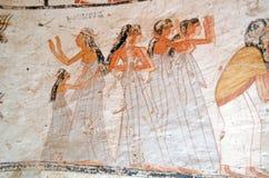Kvinnliga sörjanden, forntida egyptisk gravvalv Royaltyfri Fotografi