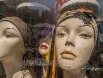 Kvinnliga skyltdockahuvud Arkivfoto