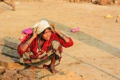 Kvinnligarbete, Indien Arkivbild