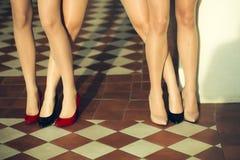 Kvinnligben i skor Royaltyfri Fotografi