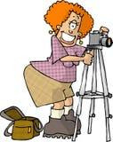 kvinnligfotograf vektor illustrationer