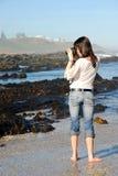kvinnligfotograf Arkivbilder