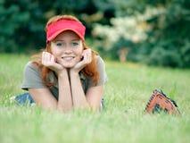 kvinnliggras som lägger unga kardor Fotografering för Bildbyråer