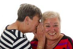 kvinnliggyckel har kvinnan för pensionären tillsammans Arkivbild