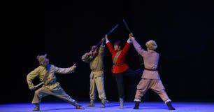 """Kvinnlighjälte-Peking opera som """"Taking Tiger Montain By Strategyâ € Fotografering för Bildbyråer"""