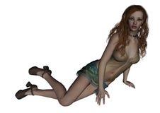 kvinnligillustrationmodell Royaltyfria Bilder
