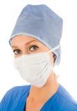 kvinnligkirurg Arkivfoto