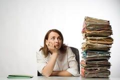 kvinnligkontorsarbetare Arkivbilder