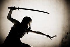 kvinnligkrigare Royaltyfri Foto