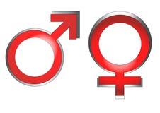 kvinnligmanlig Arkivfoto