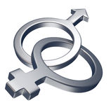 kvinnligmanligsymbol Fotografering för Bildbyråer