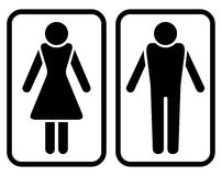 kvinnligmanligsymbol Arkivbilder