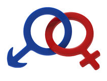 kvinnligmanligsymbol Royaltyfria Bilder