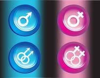 kvinnligmanligsymboler Arkivfoton