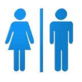 kvinnligmanligsymboler Arkivbild