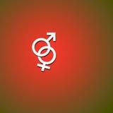 kvinnligmanligsymboler Arkivbilder