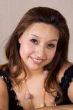 kvinnligmodell för blåa ögon Arkivfoto