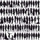kvinnligmodeller Arkivbilder