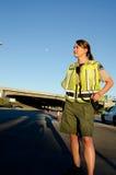 Kvinnligpolis Fotografering för Bildbyråer