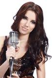 kvinnligpopsångare Royaltyfri Fotografi