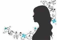 kvinnligprofil stock illustrationer