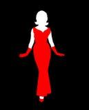 kvinnligsilhouette Arkivbild
