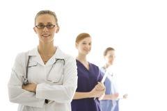kvinnligsjukvårdarbetare Arkivfoto
